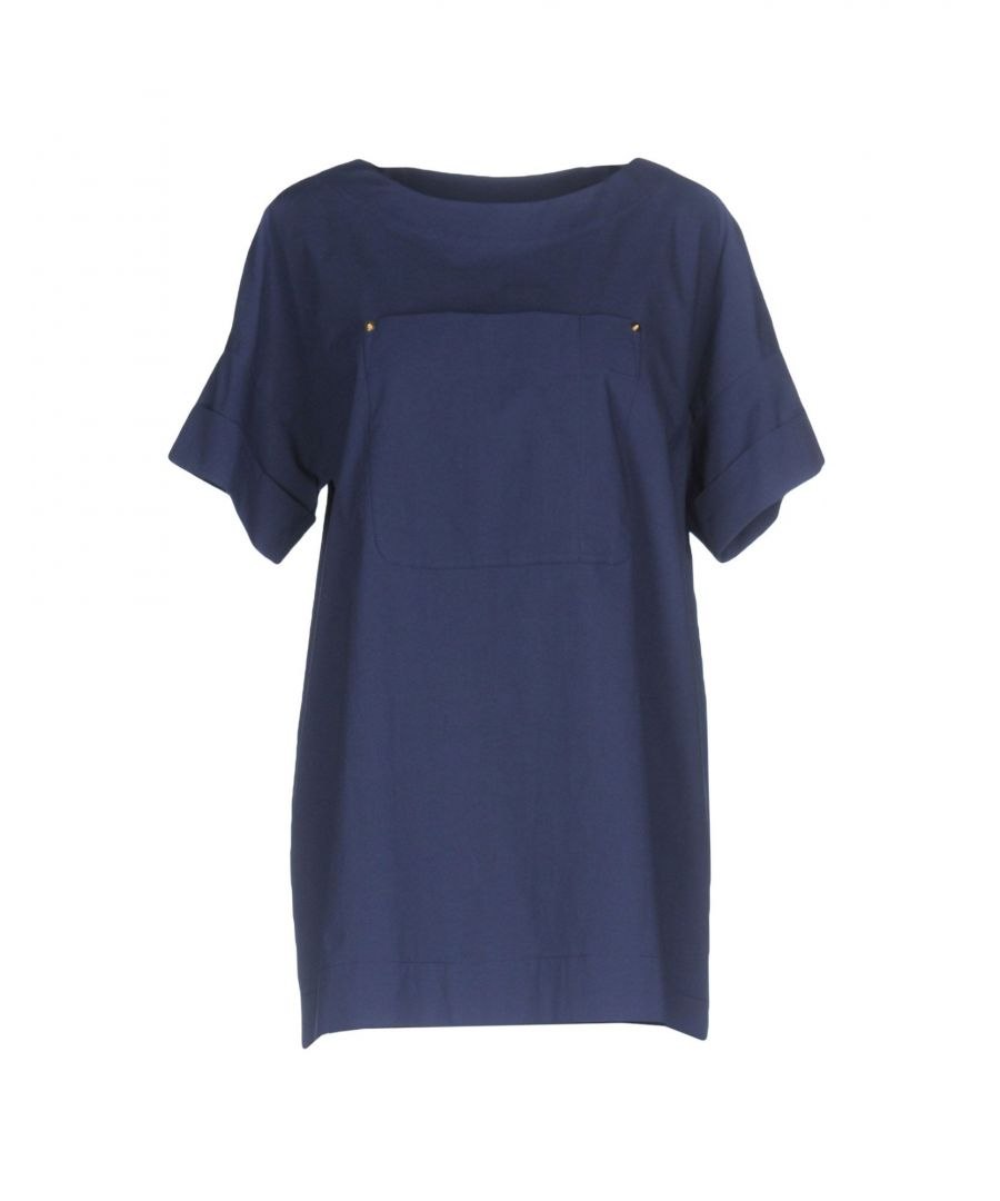 Image for Boutique Moschino Dark blue, White Cotton Blouse