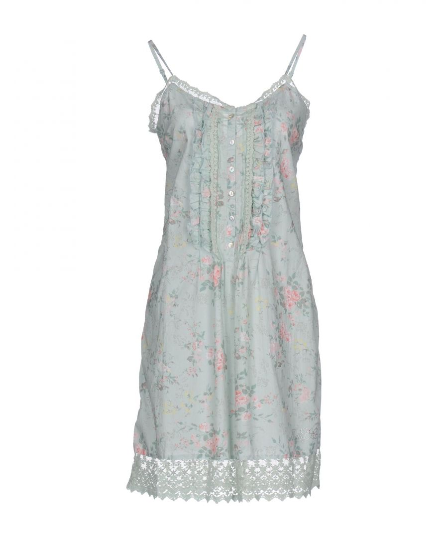 Image for Twinset Underwear Light Green Floral Print Cotton Chemise