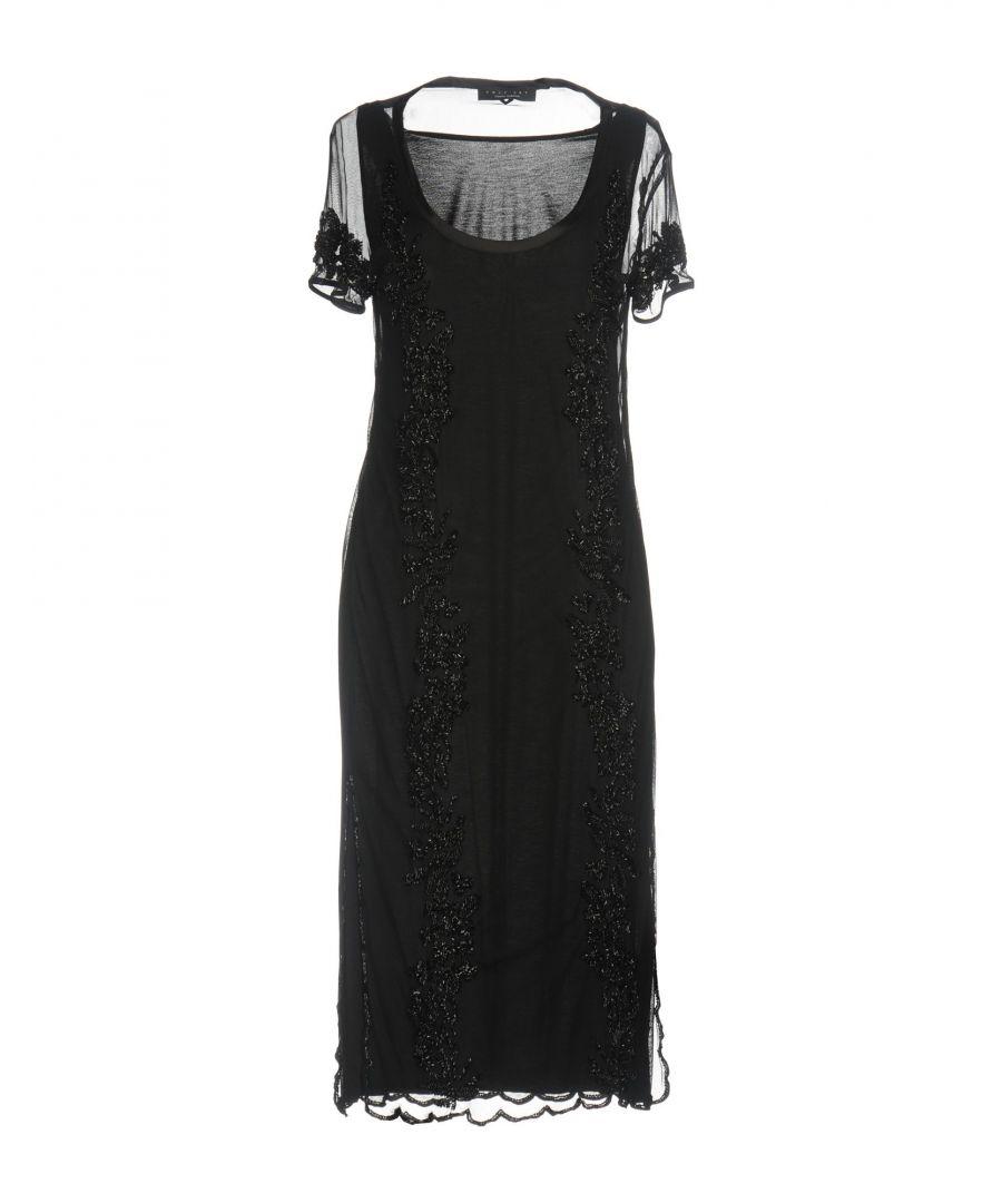 Image for Twinset Black Beaded Short Sleeve Dress