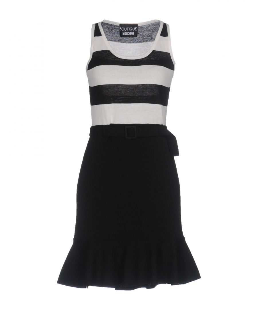 Image for Boutique Moschino Monochrome Cotton Dress