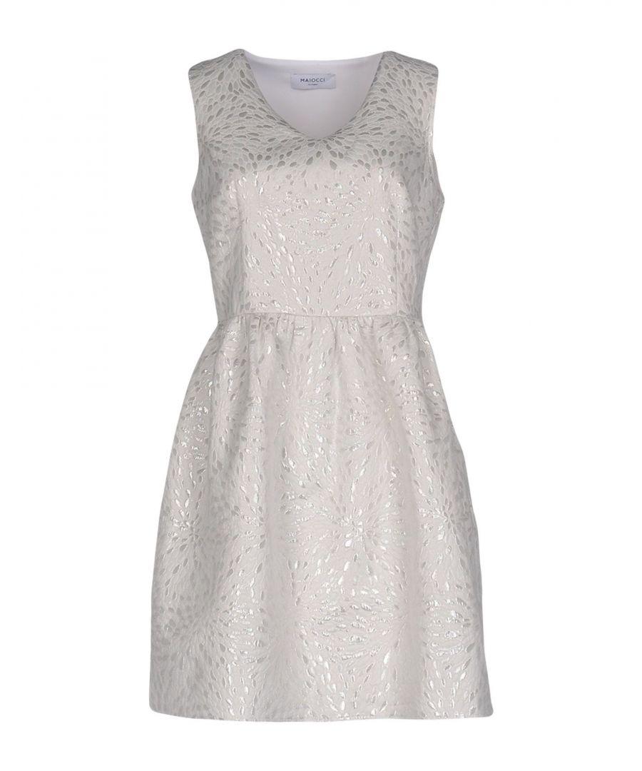 Image for Maiocci White Jacquard Sleeveless Dress