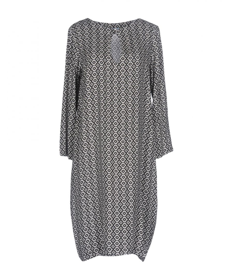 Image for M By Maiocci Black Weave Dress With Three Quarter Length Sleeves