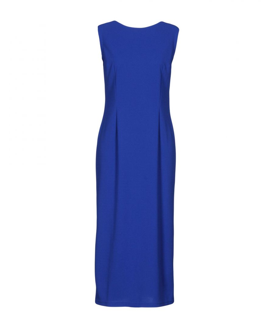 Image for M By Maiocci Blue Jersey Sleeveless Dress