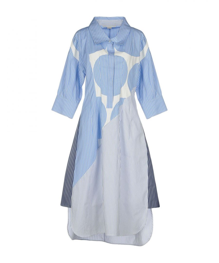 Image for Stella McCartney Pastel Blue Print Cotton Shirt Dress