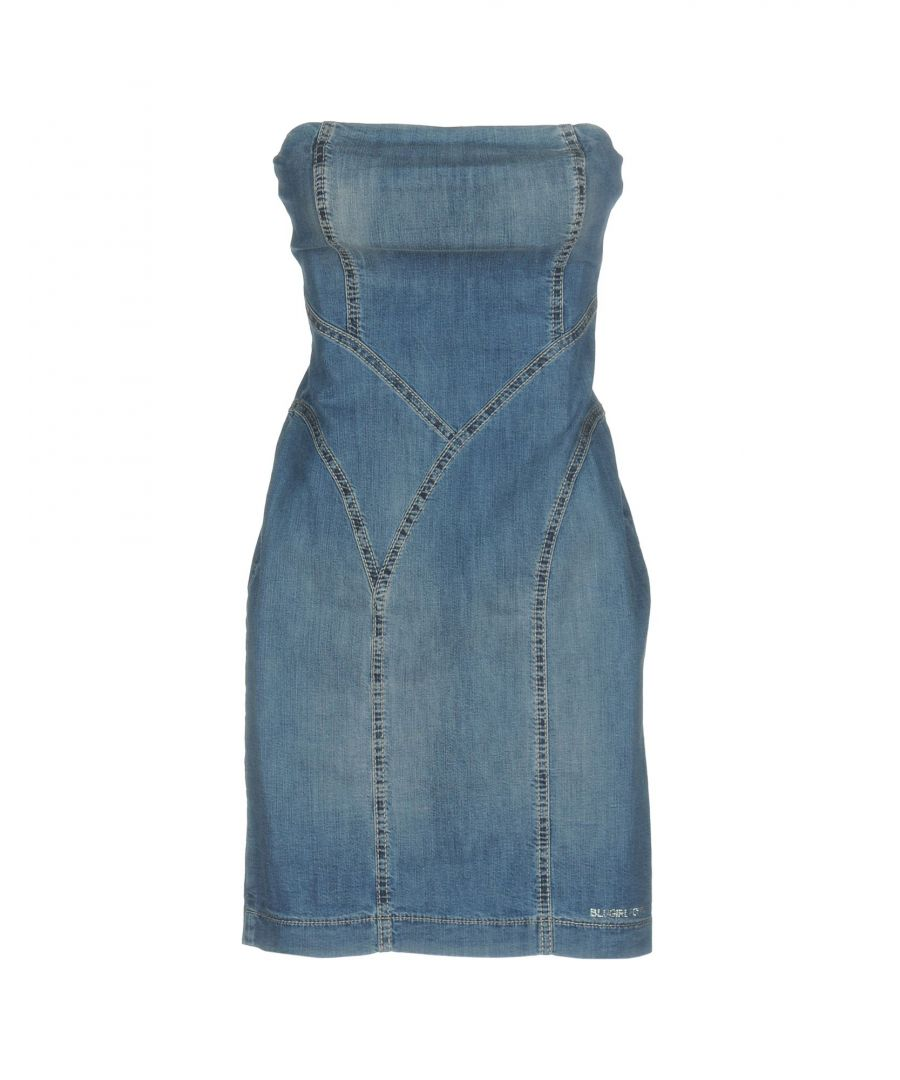 Image for Blugirl Folies Dark Blue Denim Strapless Dress