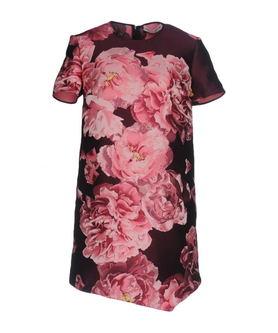 Image for Frankie Morello Purple Floral Print Satin Dress