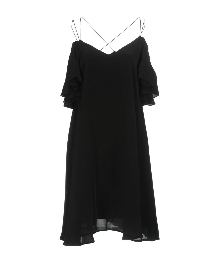 Image for Essentiel Antwerp Black Silk Camisole Dress