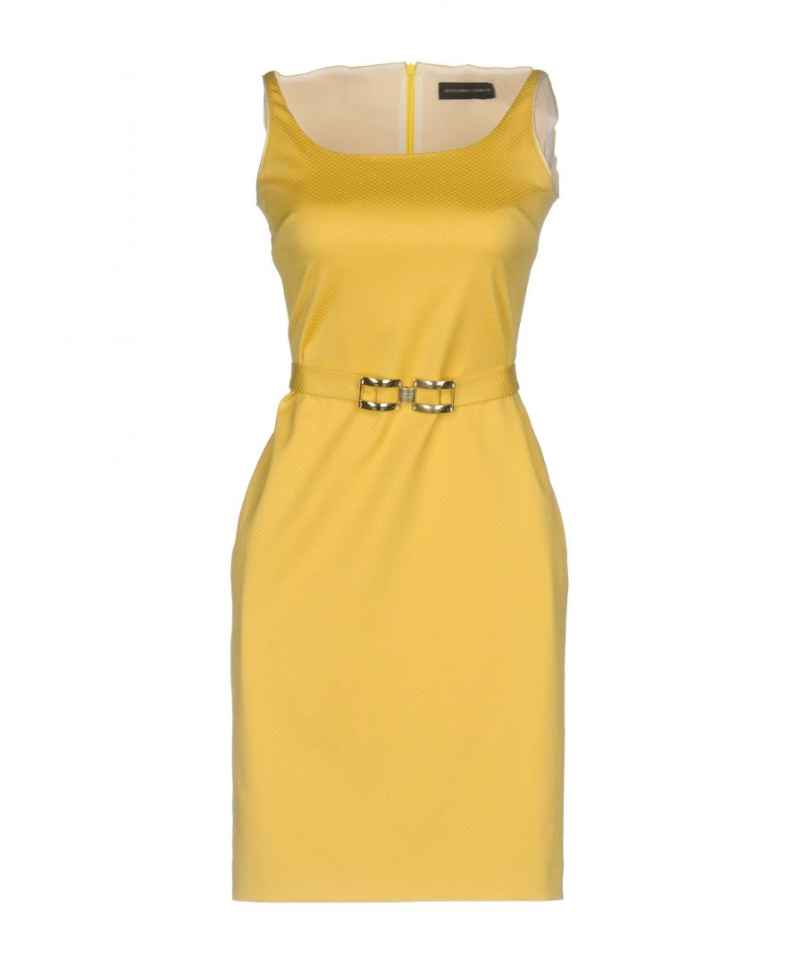 Image for Alessandro Dell'Acqua Light Yellow Cotton Dress