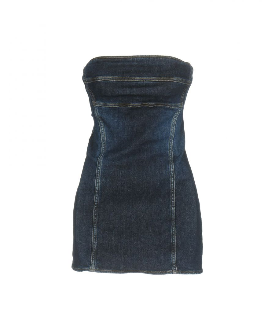 Image for Cycle Blue Denim Strapless Dress