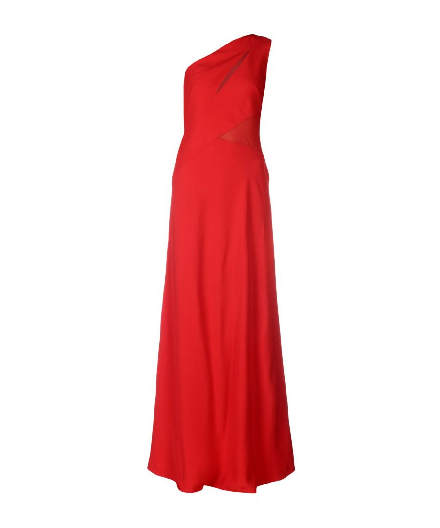 Image for Alberta Ferretti Red Full Length One Shoulder Dress