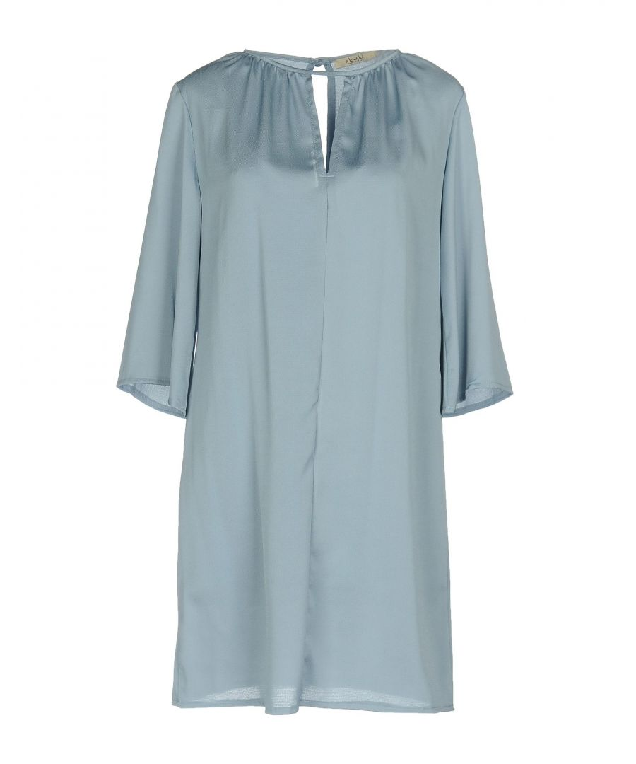 Image for No-Na Sky Blue Crepe Long Sleeve Dress