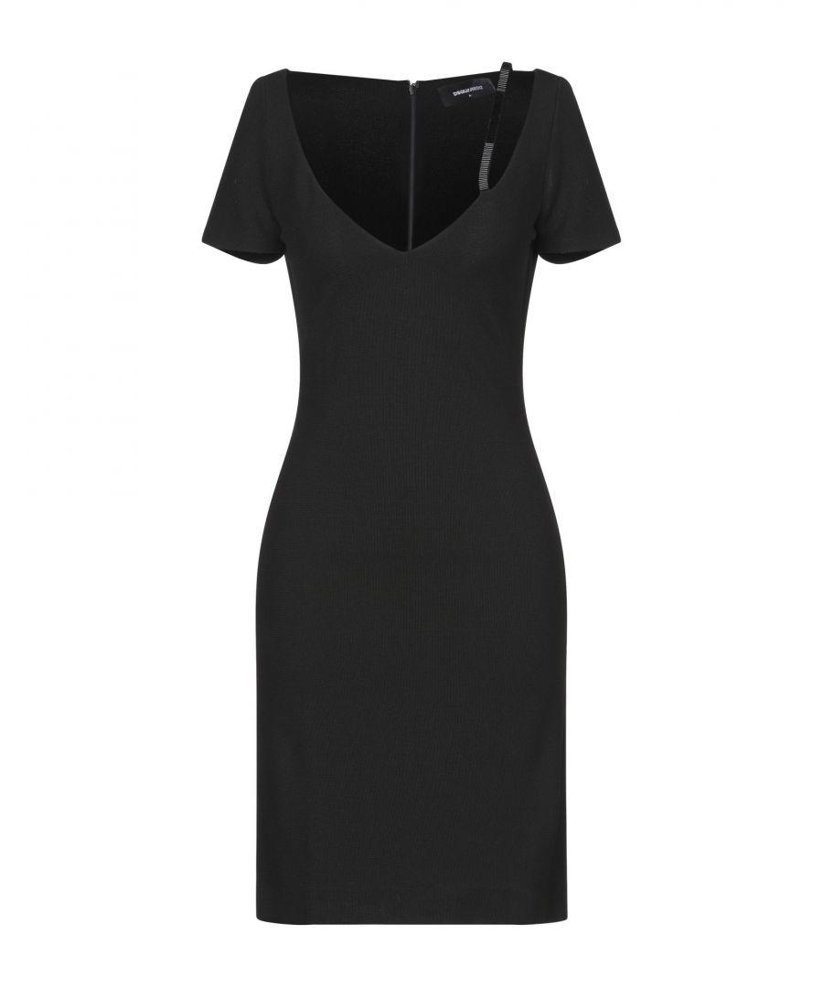 Image for Dsquared2 Black Short Sleeve Dress