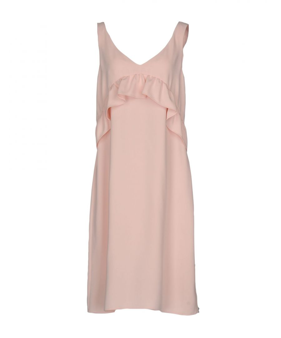 Image for P.A.R.O.S.H. Pink Crepe Ruffle Dress