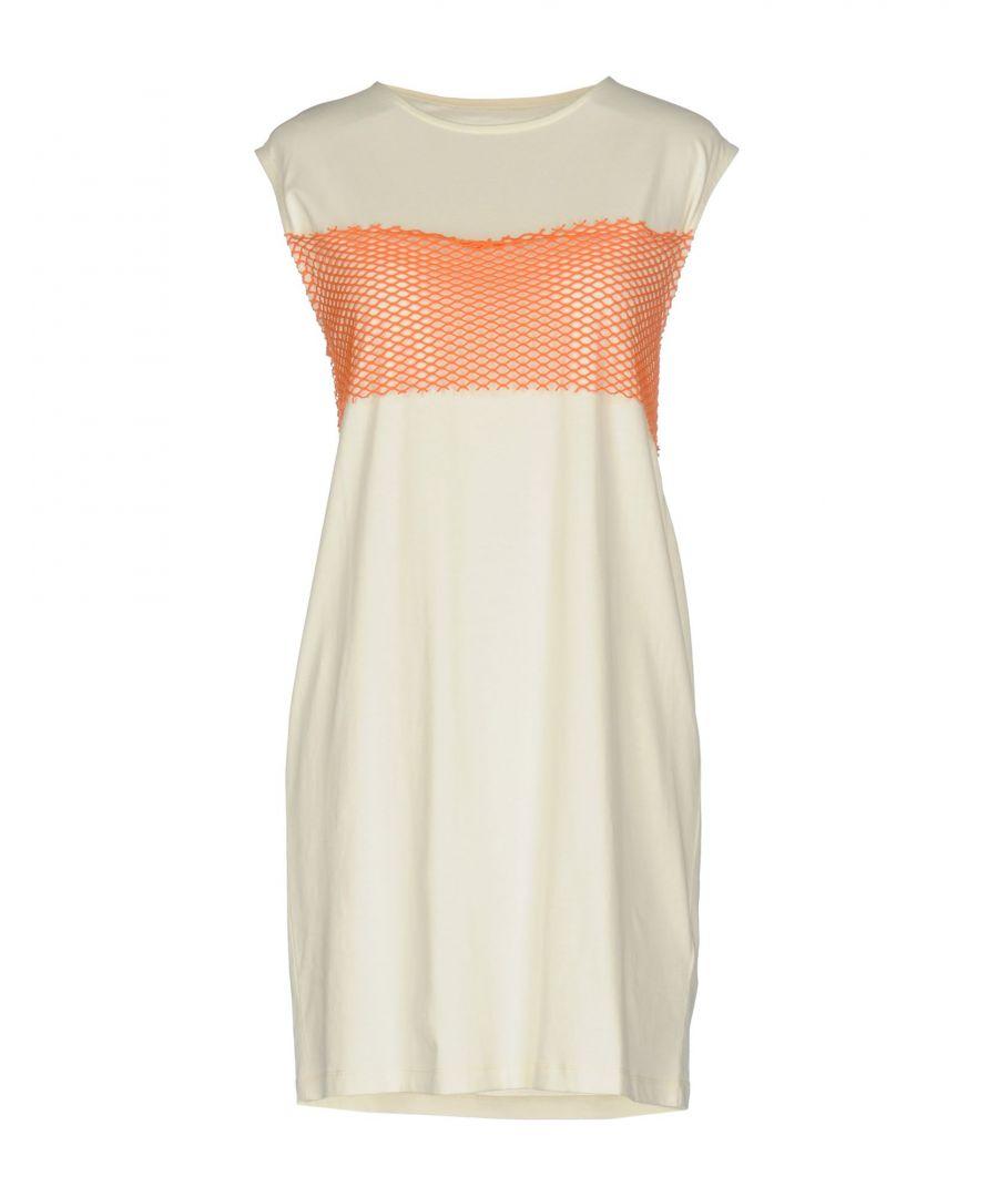Image for MM6 Maison Margiela Ivory Cotton Sleeveless Dress