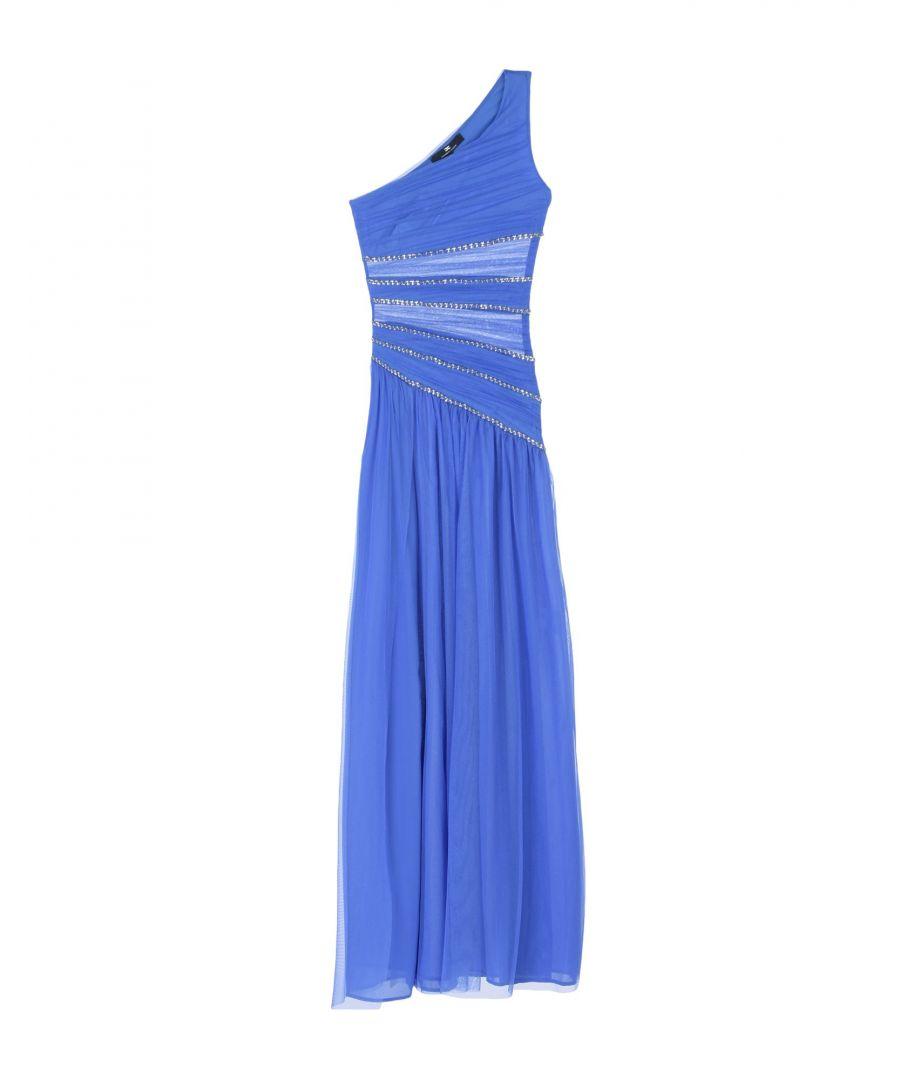 Image for Elisabetta Franchi Blue One Shoulder Full Length Dress