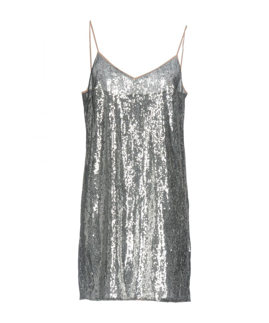Image for Marco De Vincenzo Grey Sequin Slip Dress