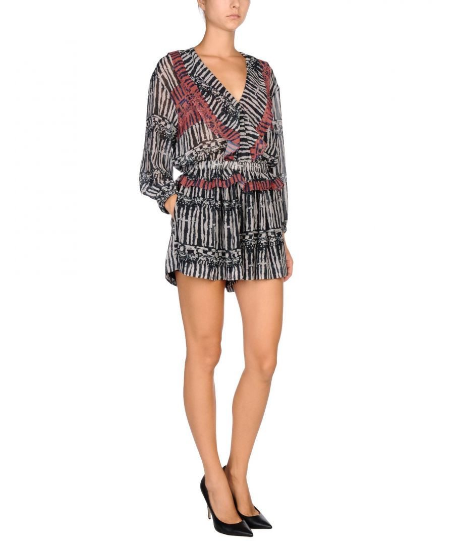 Image for Iro Steel Grey Pattern Playsuit