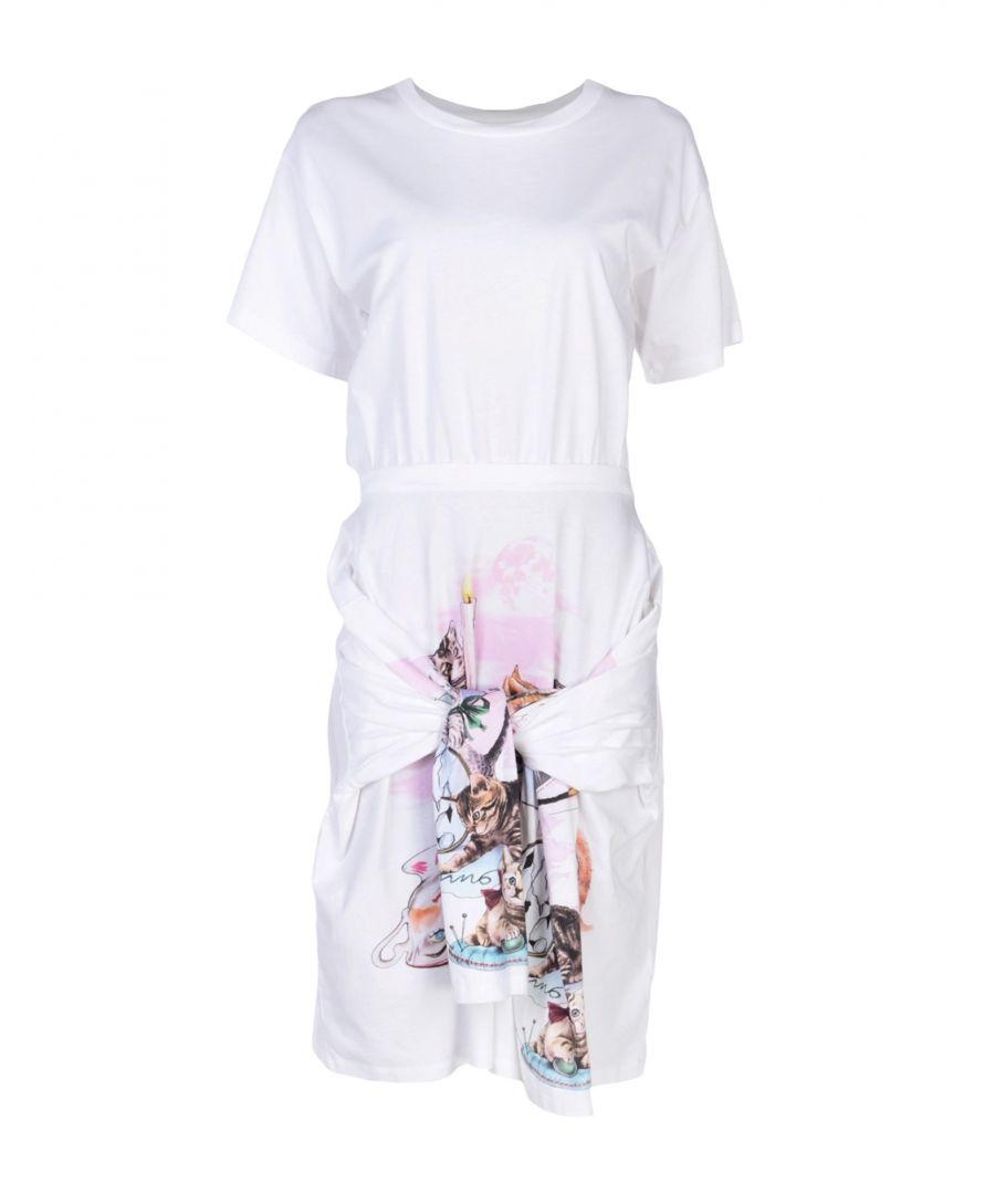 Image for MM6 Maison Margiela White Cotton Short Sleeve Dress