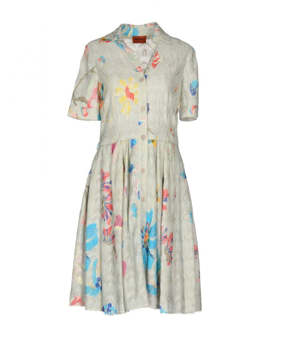 Image for Missoni Light Grey Pattern Knit Shirt Dress