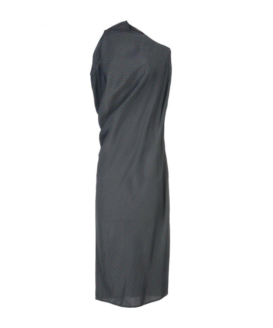 Image for MM6 Maison Margiela Dark Green Draped Dress