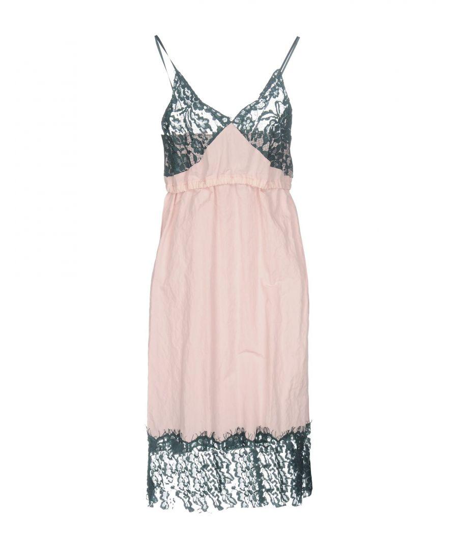 Image for MM6 Maison Margiela Pink Lace Slip Dress