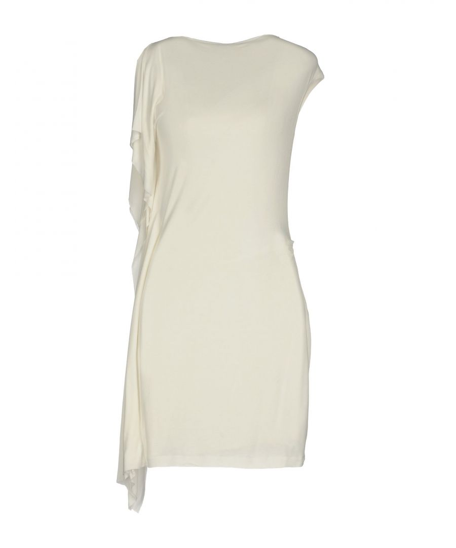 Image for Plein Sud White Jersey Short Sleeve Dress