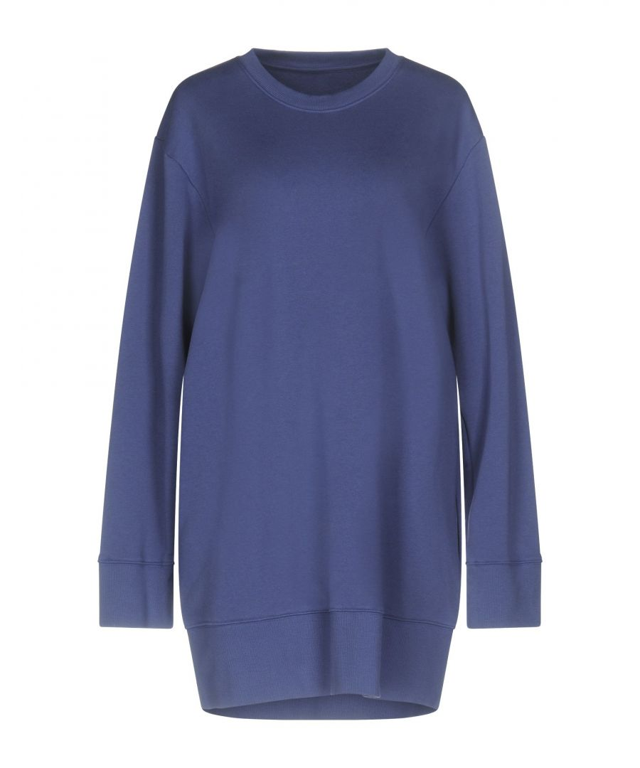 Image for MM6 Maison Margiela Slate Blue Cotton Long Sleeve Dress