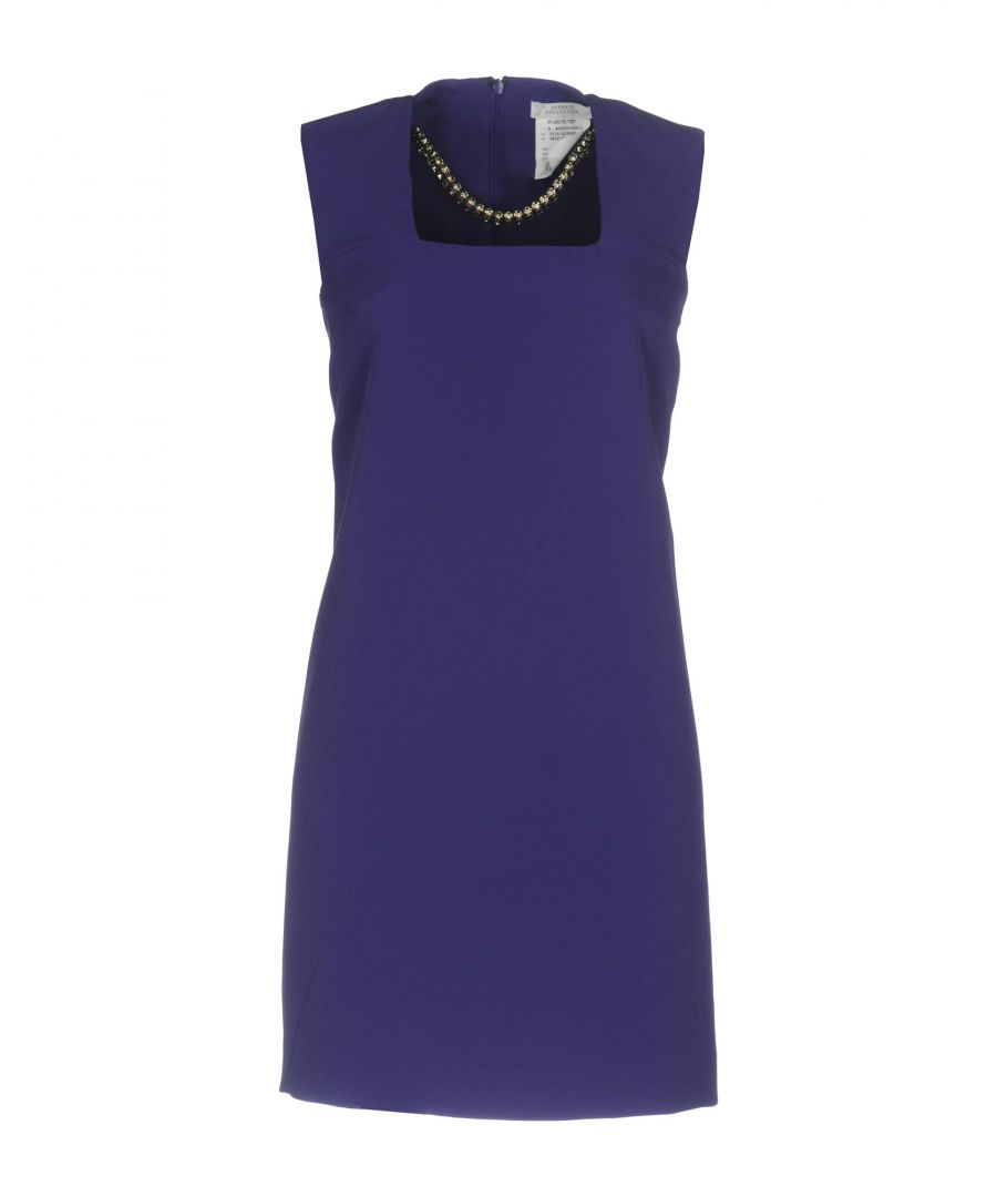 Image for Versace Collection Purple Crepe Sleeveless Dress