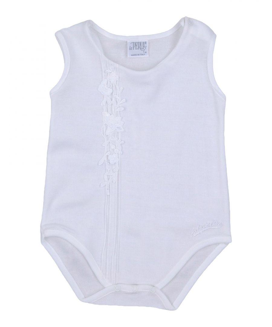 Image for La Perla White Girl Cotton Onesie
