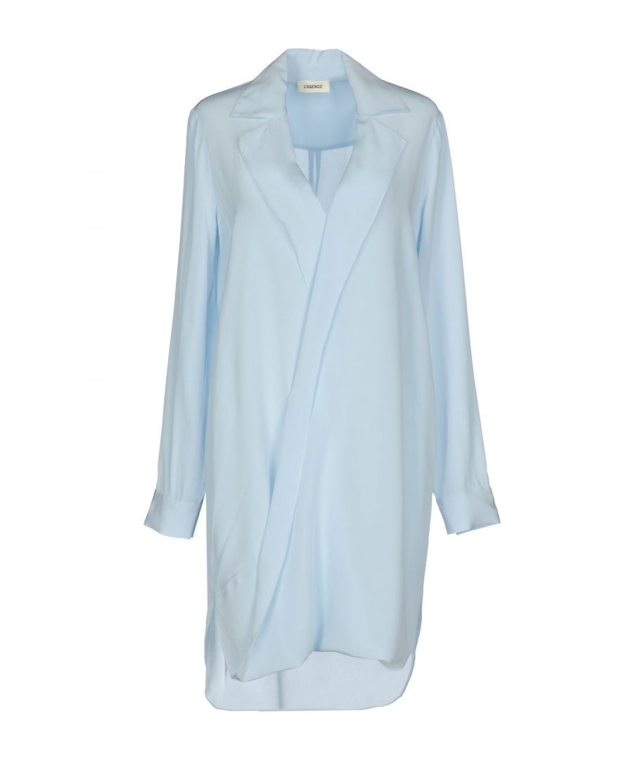Image for L'Agence Sky Blue Silk Shirt Dress