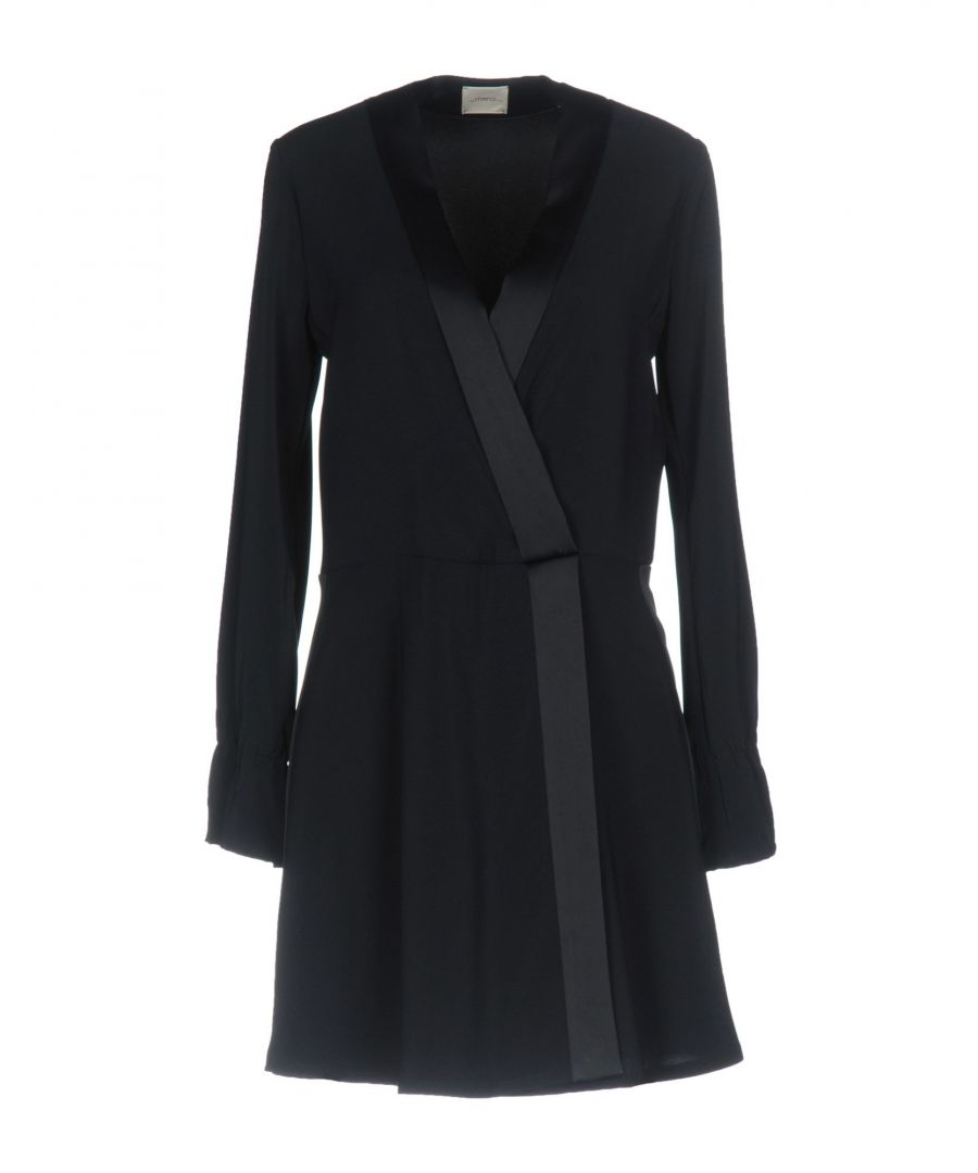 Image for Merci Dark Blue Long Sleeve Dress