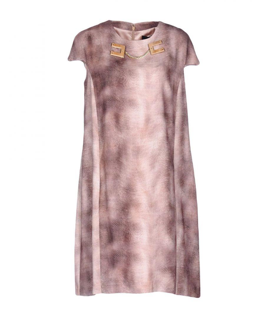 Image for Elisabetta Franchi Khaki Print Short Sleeve Dress