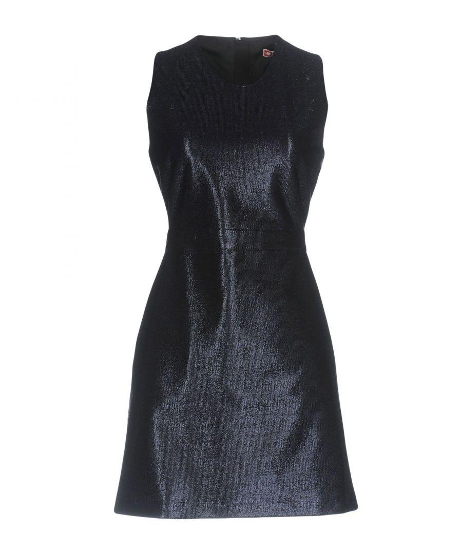 Image for MSGM Dark Blue Lame Sleeveless Dress