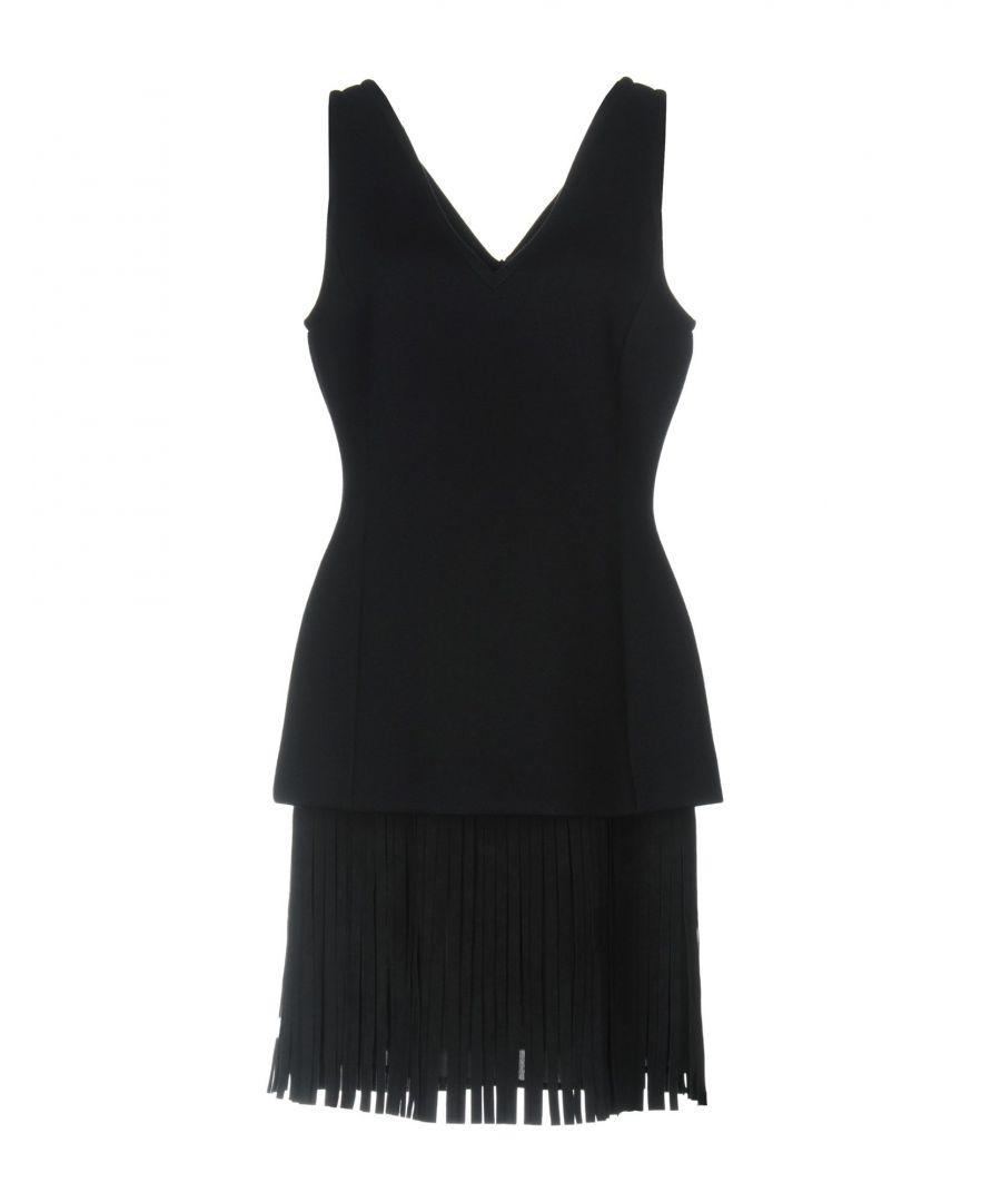 Image for Neil Barrett Dark Blue Fringed Dress