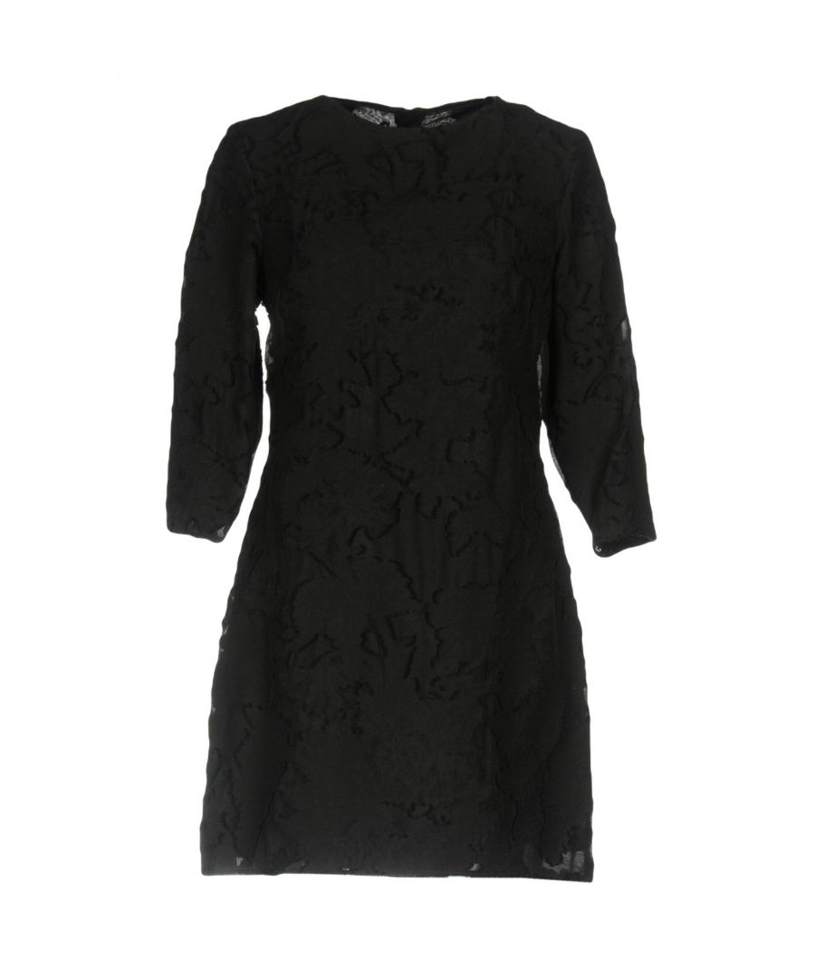 Image for Dondup Black Cotton Three Quarter Length Sleeve Dress