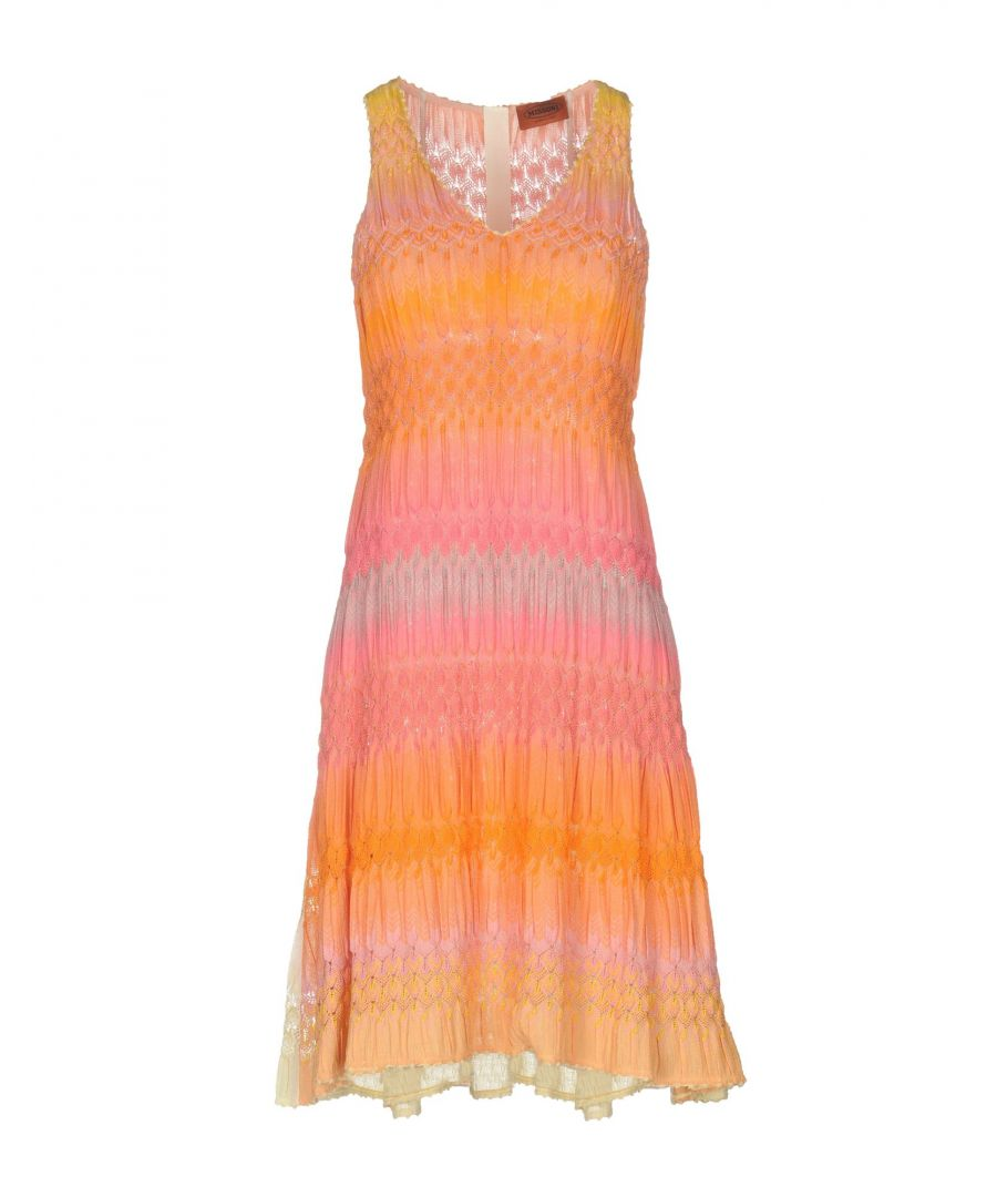 Image for Missoni Orange Knit Sleeveless Dress
