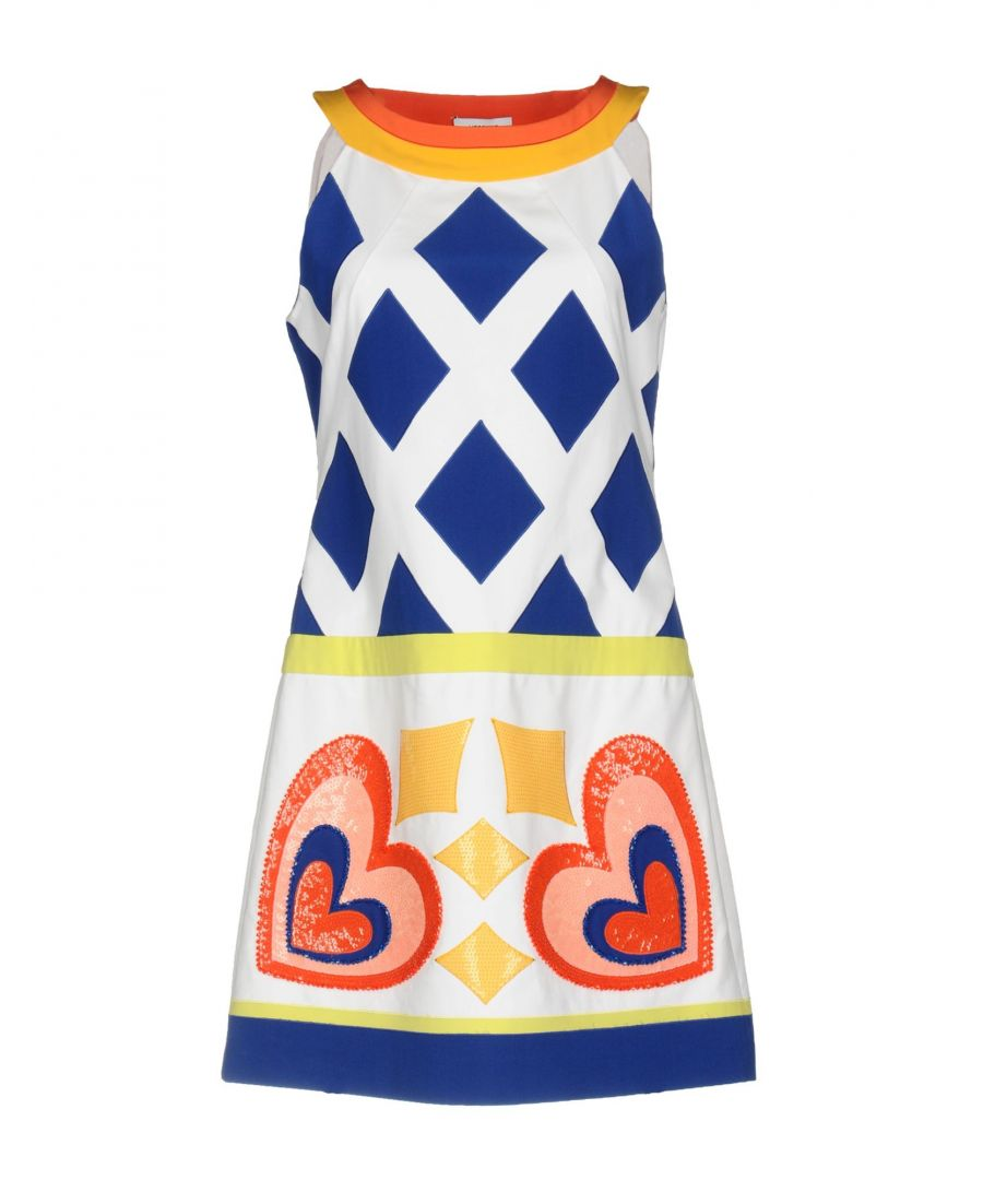 Image for Moschino White Geometric Print Cotton Dress