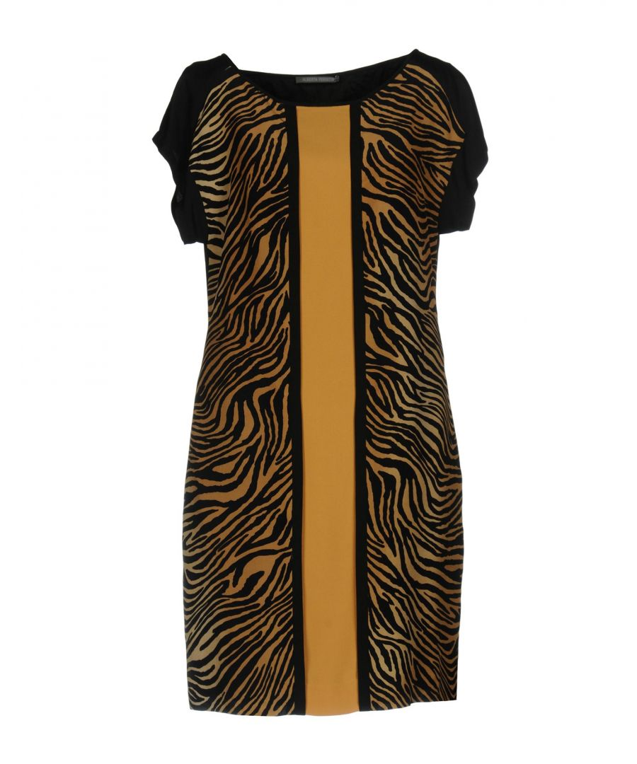 Image for Alberta Ferretti Brown Tiger Print Silk Dress