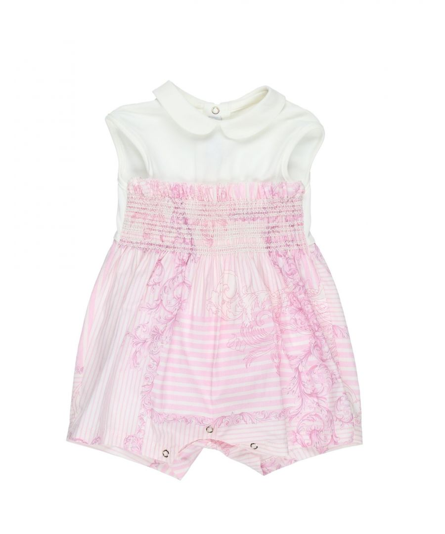 Image for Versace Young Pink Girl Cotton Onesie