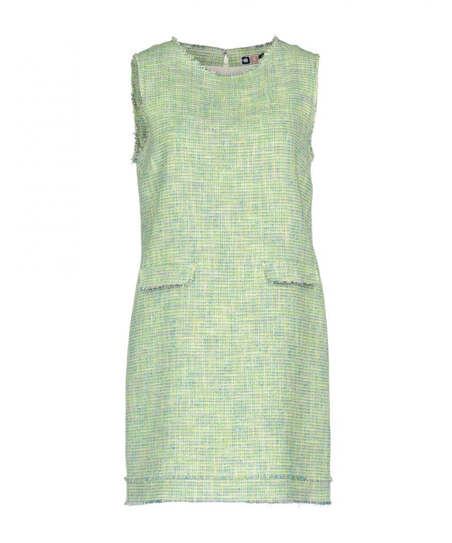 Image for MSGM Light Green Cotton Tweed Sleeveless Dress