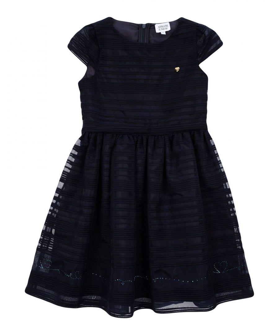 Image for DRESSES Armani Junior Dark blue Woman Cotton