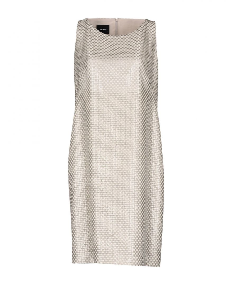 Image for Akris Grey Knit Lame Sleeveless Dress