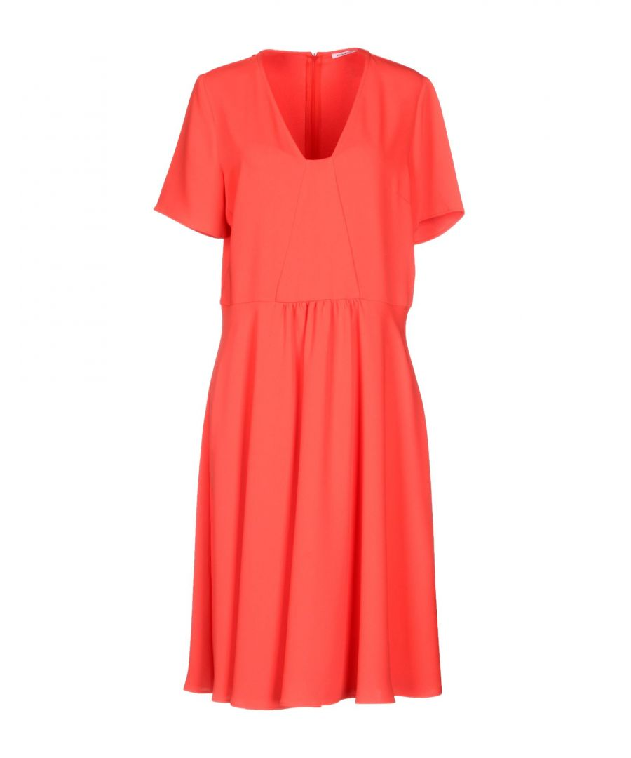 Image for P.A.R.O.S.H. Red Crepe Short Sleeve Dress