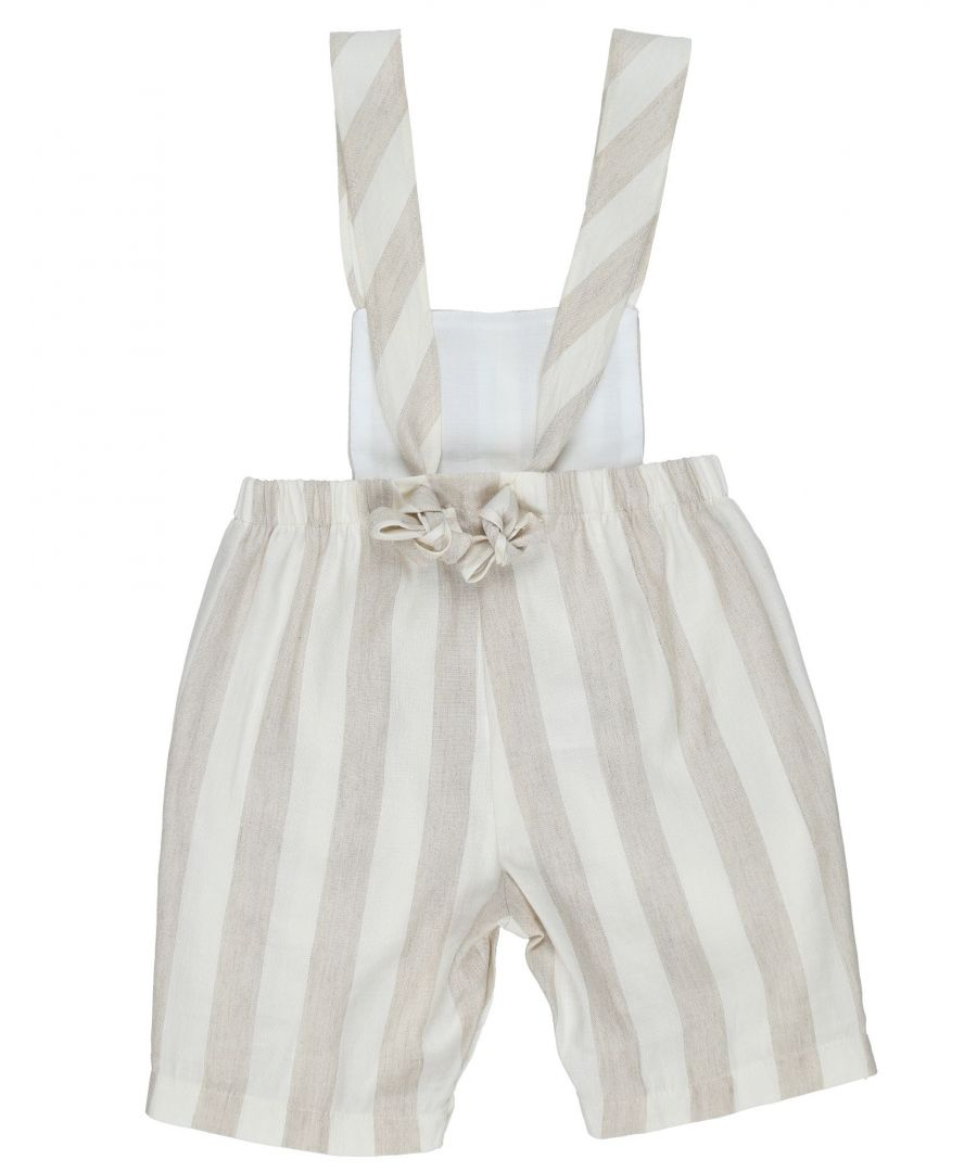Image for Il Gufo Ivory Girl Linen One Piece