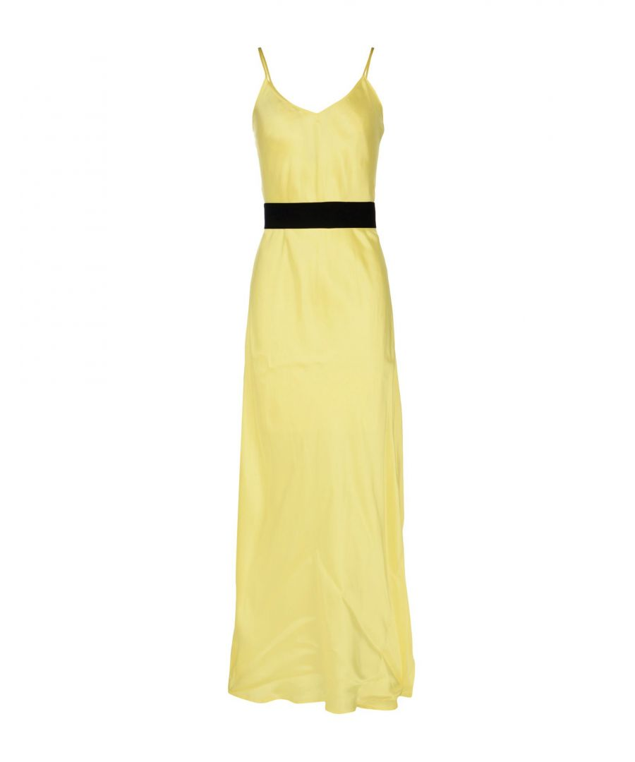 Image for Pinko Yellow Full Length Dress