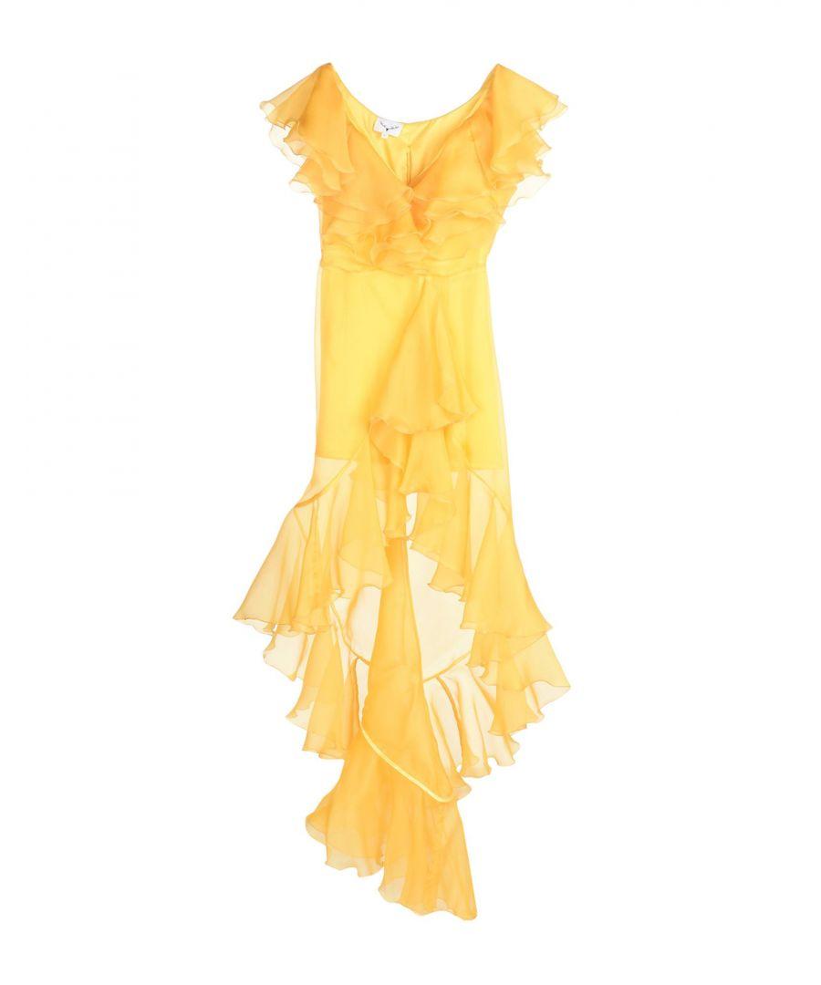Image for Leitmotiv Yellow Silk Dress