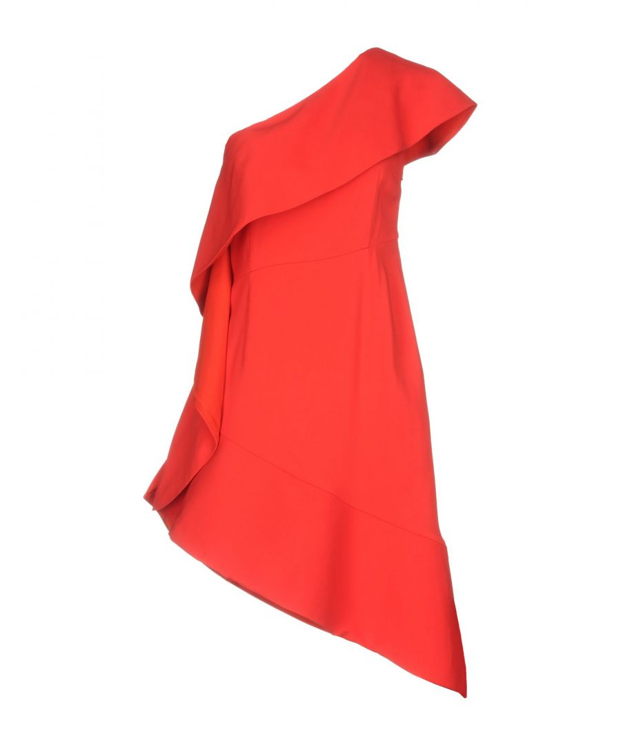 Image for Pinko Red Crepe Asymmetrical Dress