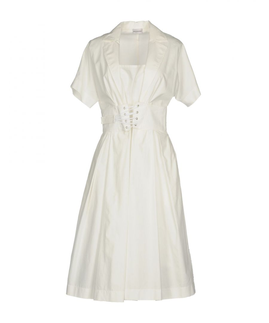 Image for Philosophy Di Alberta Ferretti White Cotton Shirt Dress