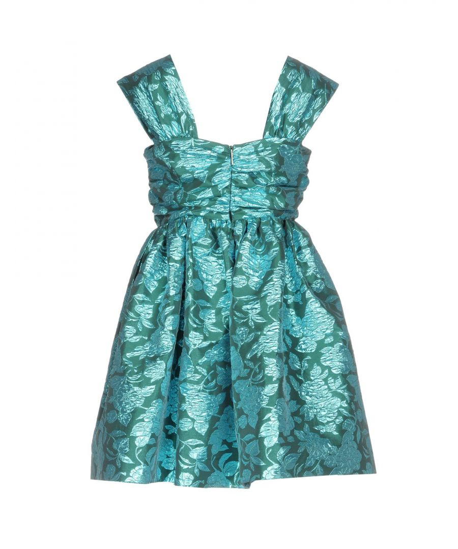 Image for MSGM Green Floral Brocade Dress