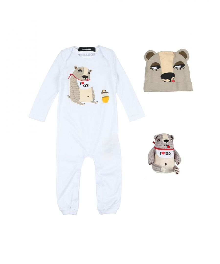 Image for Dsquared2 White Girl Cotton Onesie